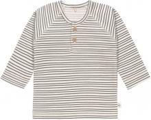 Lässig Long Sleeve Shirt GOTS 86/92 Striped grey/anthracite