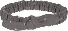 Lässig Headband GOTS 4-12 months Spots anthracite