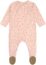 Lässig Pyjamas GOTS with feet 62/68 Dots powder pink
