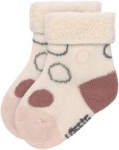 Lässig Newborn Socks GOTS 0-4 months white/pink/rust