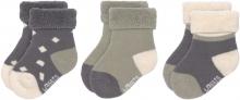Lässig Newborn Socks GOTS 4-12 months anthracite/olive