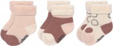 Lässig Newborn Socks GOTS 4-12 months white/pink/rust