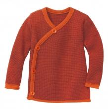 Disana Melange jacket 86/92 orange-bordeaux