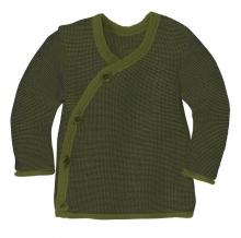Disana Melange jacket 98/104 olive-anthracite