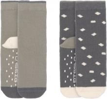 Lässig Anti-Slip Socks GOTS 23-26 anthracite/olive