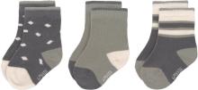 Lässig Socks GOTS 4-12 months anthracite/olive