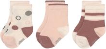 Lässig Socks GOTS 4-12 months white/pink/rust