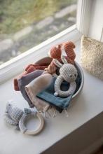 Sebra Crochet rattle Star on ring