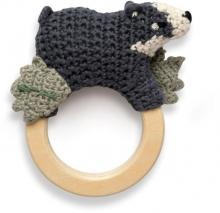 Sebra Crochet rattle Shadow on ring