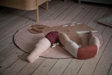 Sebra Woven floor mat Twilight the Deer dreamy rose