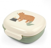 Sebra Lunch box with divider Nightfall idyllic green