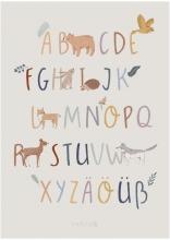 Sebra Alphabet poster A-Z and German Umlauts Nightfall