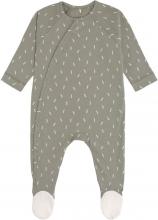 Lässig Pyjamas GOTS with feet 50/56 Speckles olive
