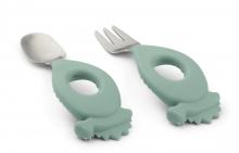 Liewood Stanley cutlery set Dino peppermint