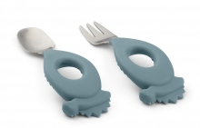 Liewood Stanley cutlery set Dino whale blue