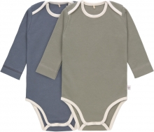 Lässig Long Sleeve Body GOTS 2pcs. 86/92 blue/olive american neckline