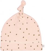 Lässig Beanie GOTS 50/56 Dots powder pink