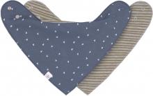 Lässig Bandana 2pcs. Triangle blue/Striped grey melange