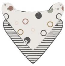 Lässig Banada GOTS 2pcs Set Circles offwhite/Striped grey/anthracite