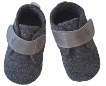 Anna and Paul Felted Basic shoe with rubber sole L grey-melange