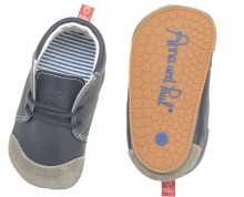 Anna and Paul Chris Leather toddler shoe with rubber sole L-22 navy