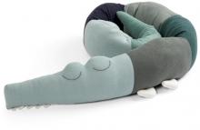 Sebra Knitted bumper Sleepy Croc hazy blue