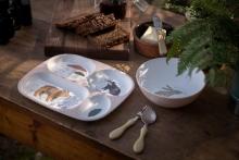 Sebra Melamine plate with 4 rooms Nightlife dreamy rose