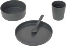 Lässig Dish set PP/Cellulose uni anthracite