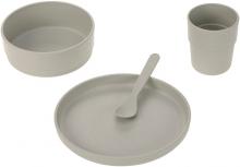Lässig Dish set PP/Cellulose uni warm grey