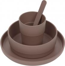 Lässig Dish set PP/Cellulose uni choco