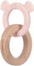 Lässig Wooden toy with teether 2-in-1 Little Chums Mouse