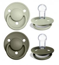 BIBS de lux pacifier silicone Sage/Hunter Green 0-36 month