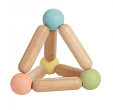 PlanToys Wooden Baby Toy pyramid pastel