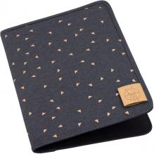 Lässig Casual Document Pouch triangles dark grey