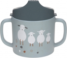 Lässig Sippy Cup PP/Cellulose Tiny Farmer Sheep/Goose blue