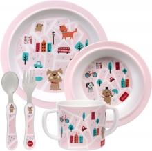Sigikid 25245 Melamine tableware set pink