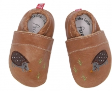 Anna and Paul leather toddler shoe Hedgehog with rubber sole