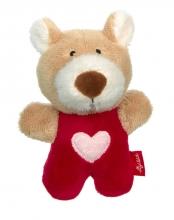 Sigikid 42800 Rattle bear RedStars