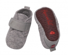 Anna and Paul Felted Basic shoe with rubber sole L-22 light grey